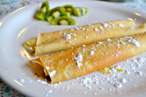 crepes with nutella or chocolate spread