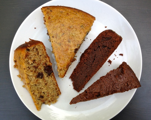 banana bread, brownies