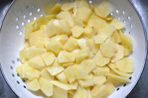 diced potatoes