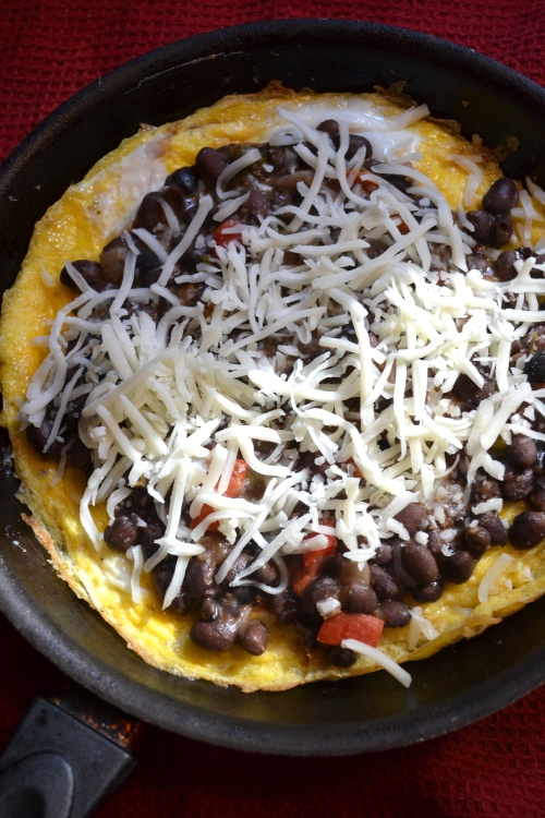 black bean chili omelette