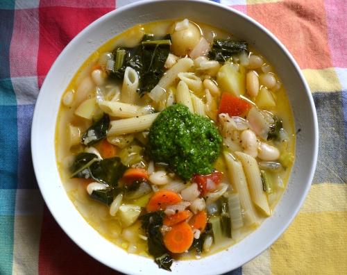 homemade minestrone
