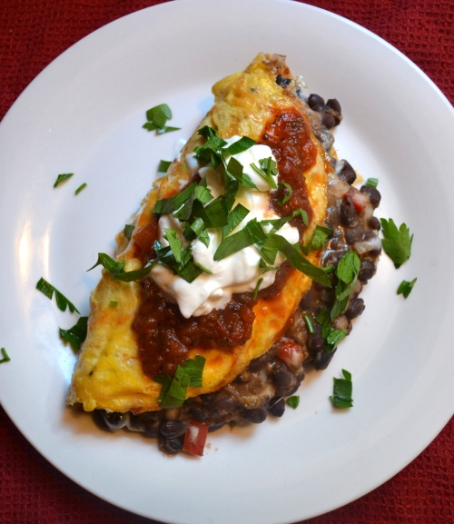 loaded chili omelette
