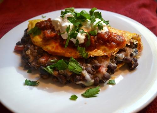 loaded chili omelette