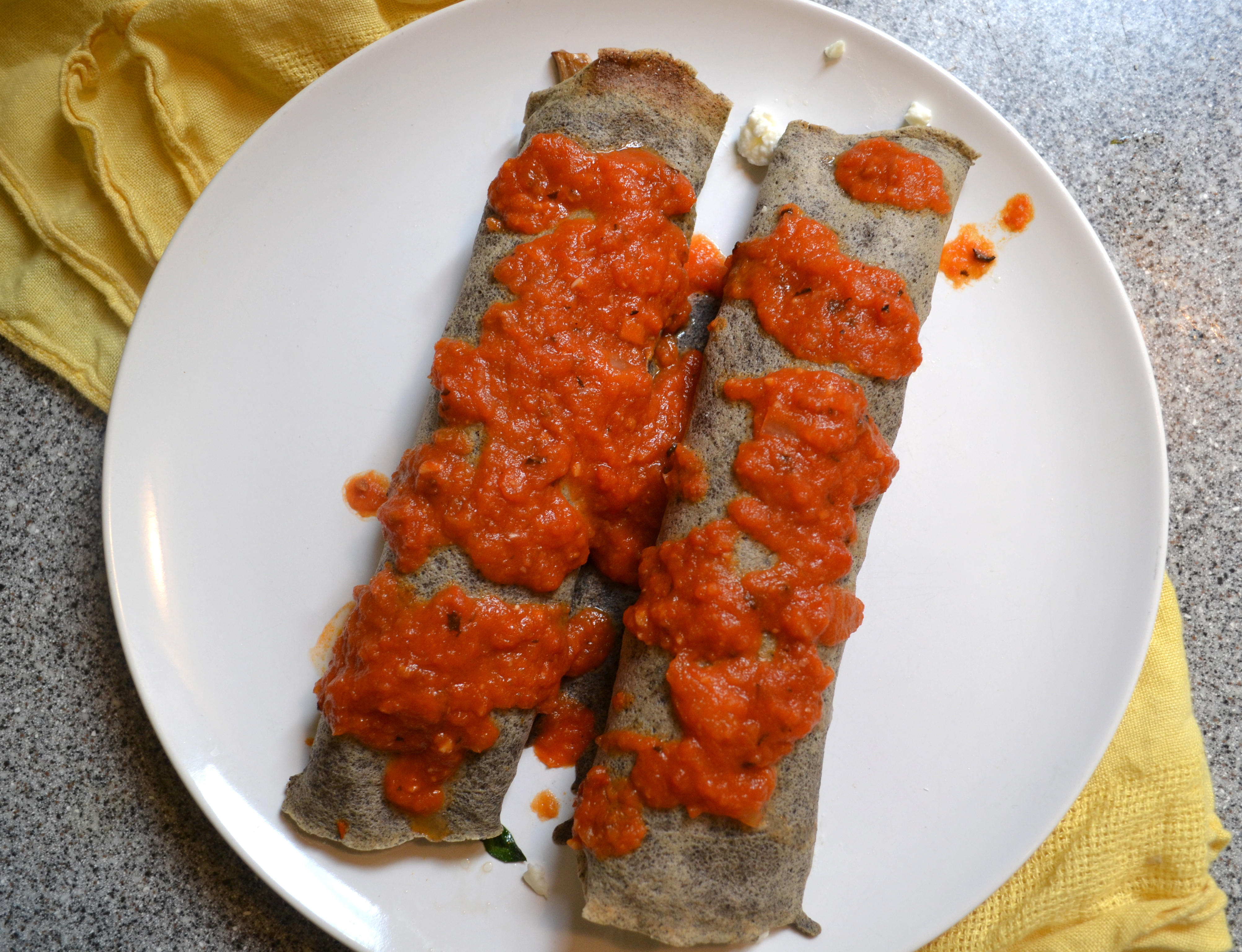 For the ideal buckwheat crepe, use a mix of half and half flours and ...
