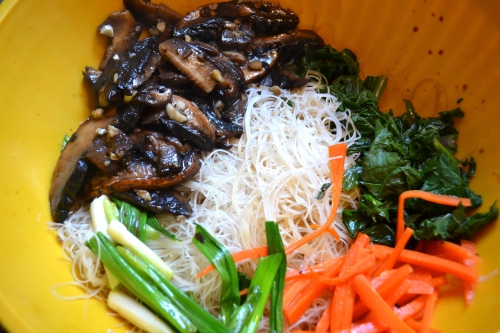 chop chae, jap chae with rice noodles