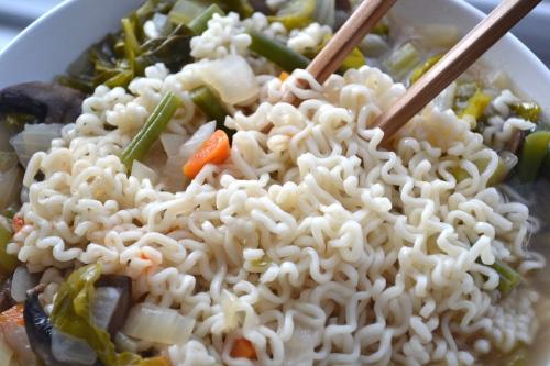 homemade vegetable ramen