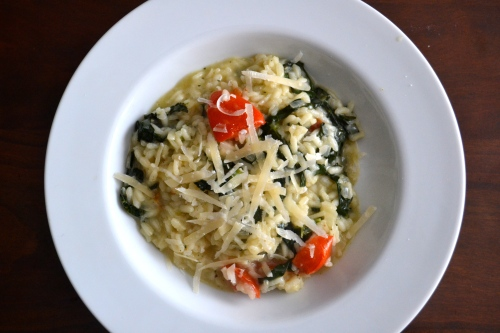 Kale and tomato risotto