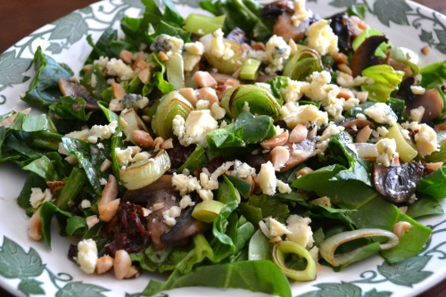 spinach and leek salad