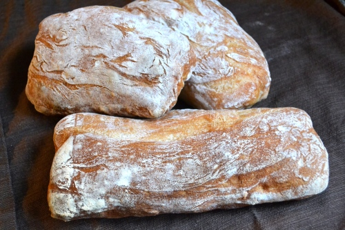homemade ciabatta