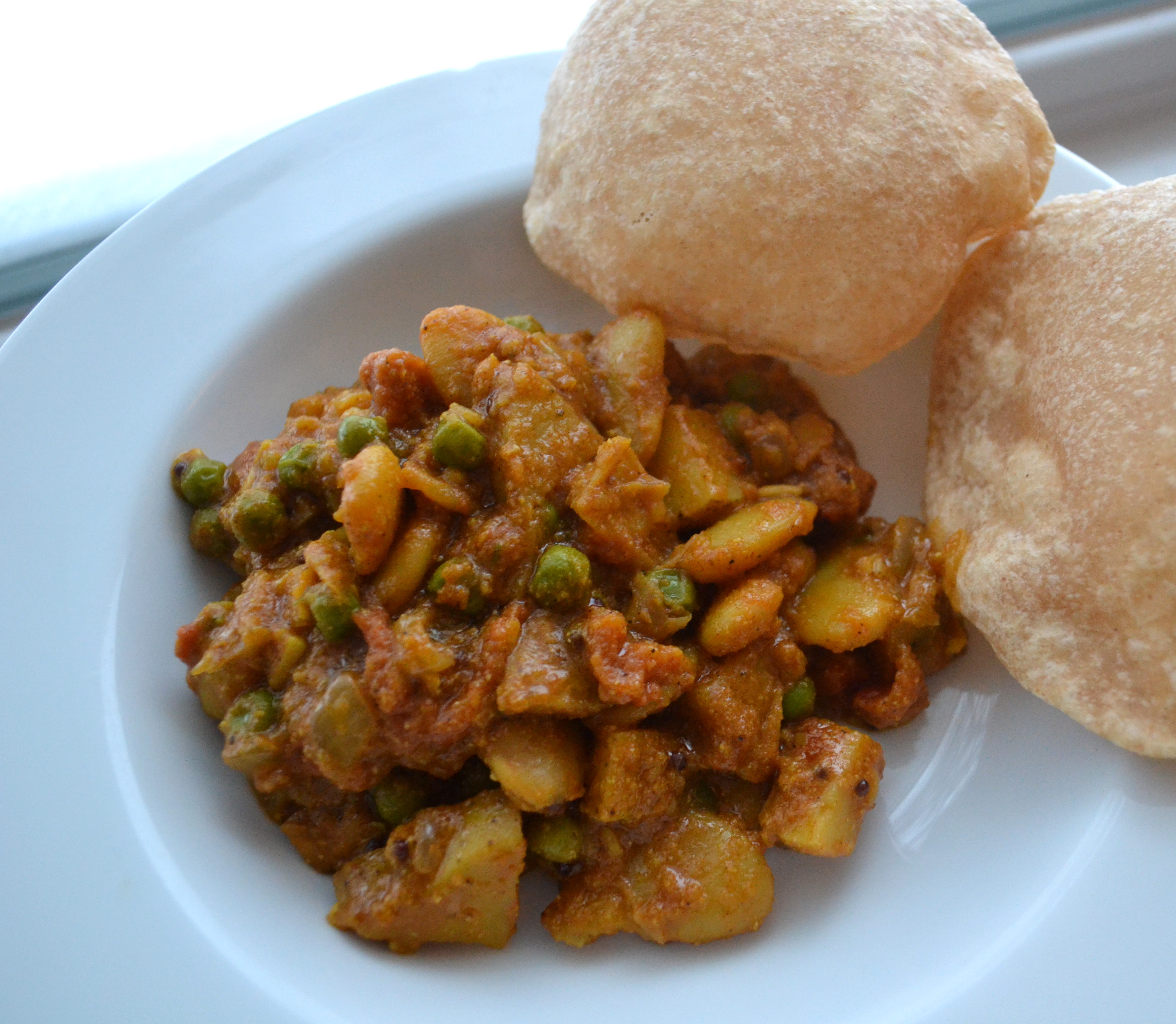 Butter Bean Curry And Puris Lushesfood
