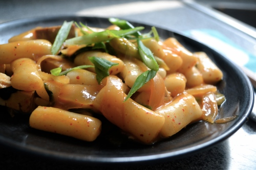 dokbokki, dukbokki, Korean rice cake
