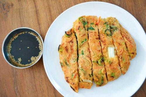 kim chi pancakes