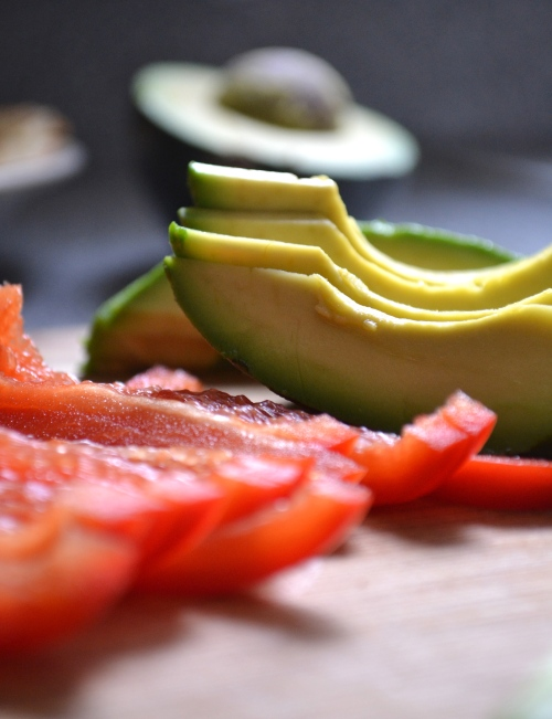 avocado and red pepper