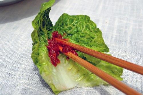 lettuce with ssamjang