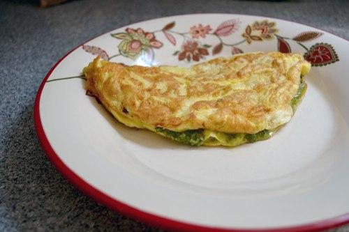 green chutney omelette
