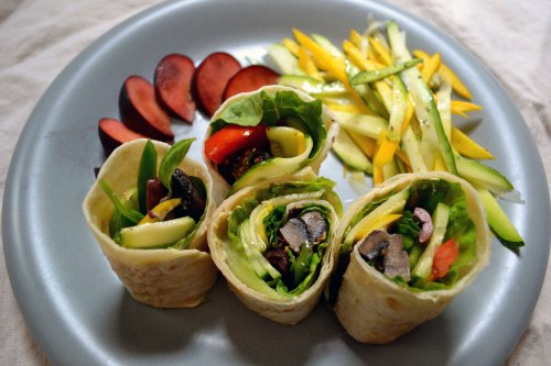 quick lunch; vegan wrap