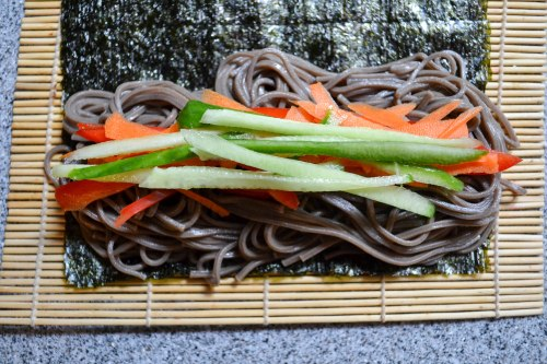 veg and soba on nori-1