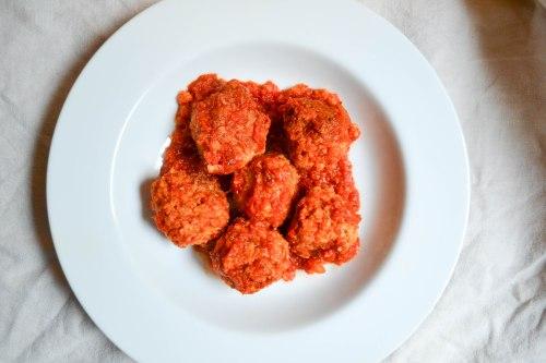 farro risotto veggie meatballs