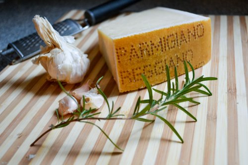 garlic, rosemary, parmigiano
