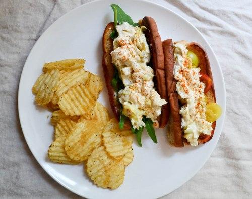 veggie lobster roll